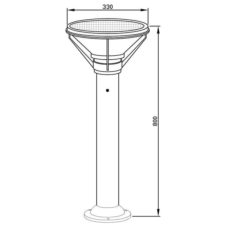 solar outdoor lighting drawing