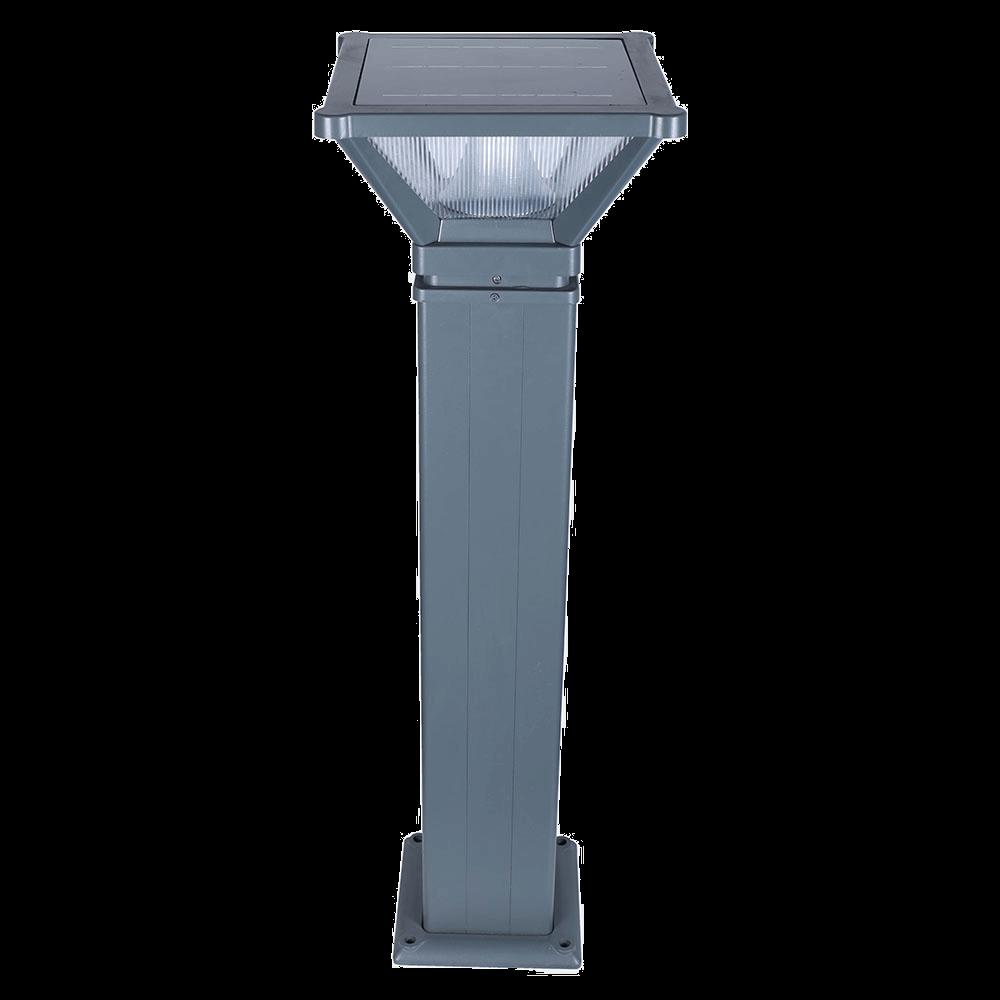 solar bollard light in laneway