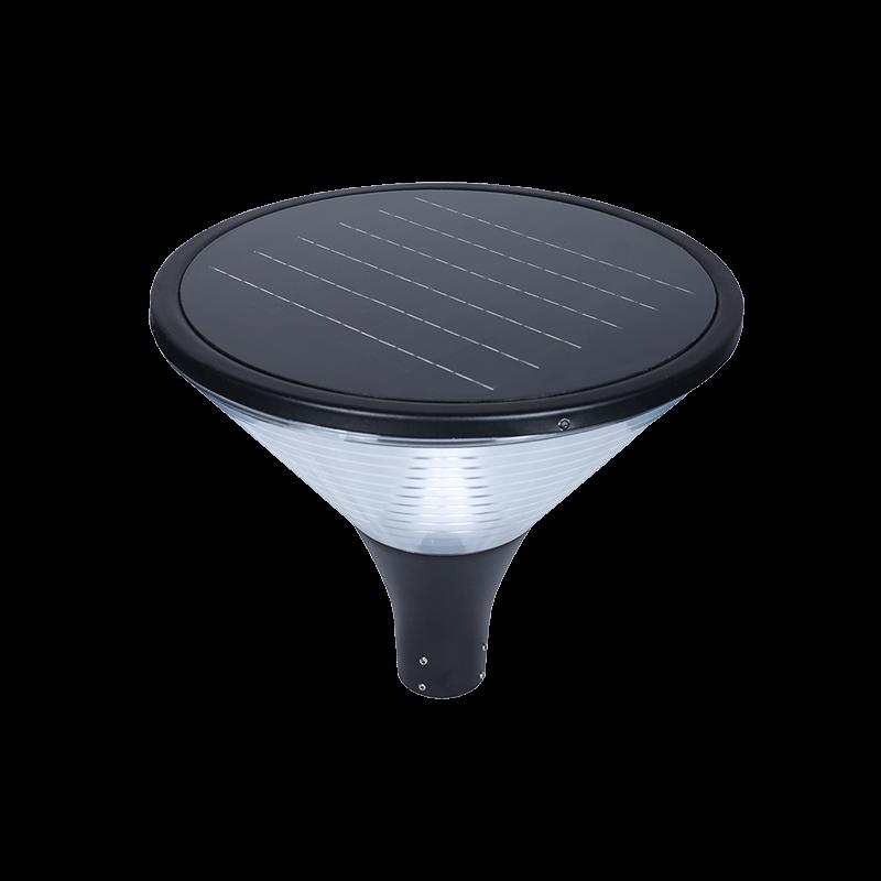 solar post top light