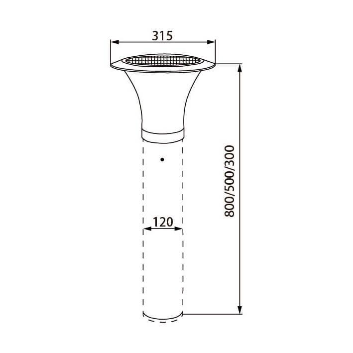 120A Solar Bollard