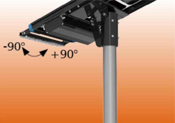 solar garden light adjustable led module angle