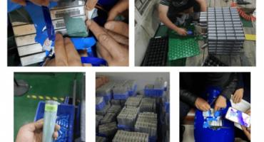 recyles battery on solars treet light