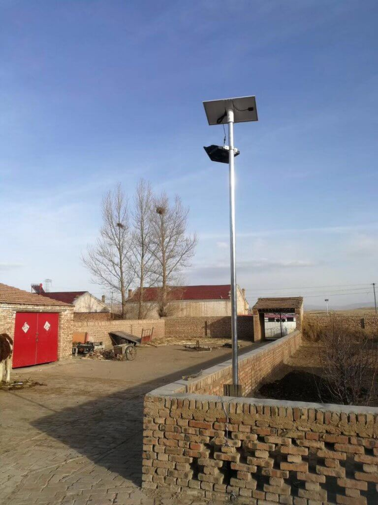 solar flood light can be used as street lighting