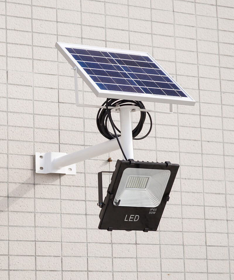 split solar flood light