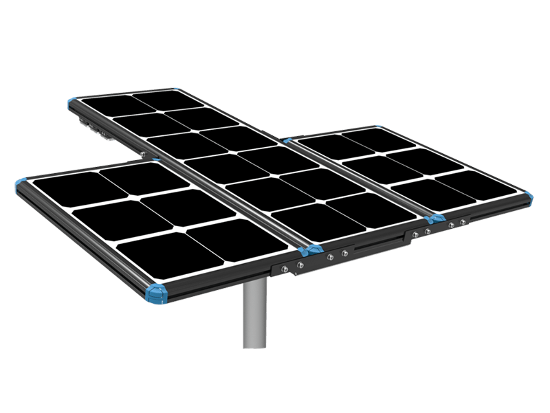 extendable solar panel of solar street light