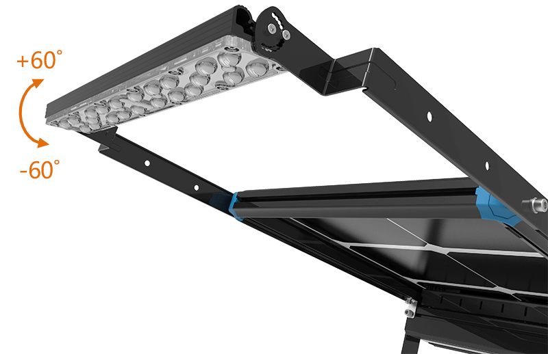 solar led module change angle