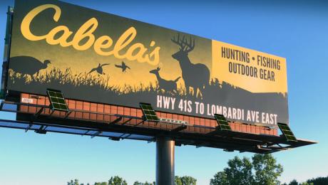 banner solar billboard light