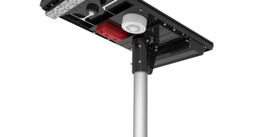 solar street light integrated alarm