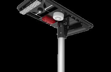 solar street light integrated alarm