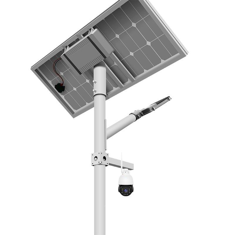 split solar street light with camera