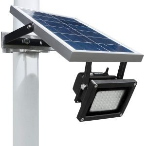 solar flood light pole mounted