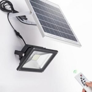 remote solar flood light